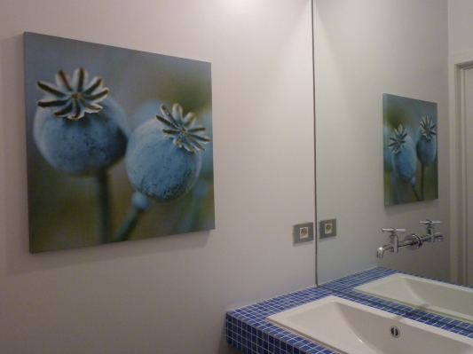 decoratief toilet - design afwerking - Inblauw b&b