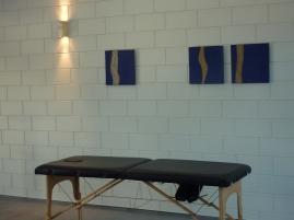 massagetafel - keramiek Jan Vander Elst - Leuven - massage table - Inblauw B&B