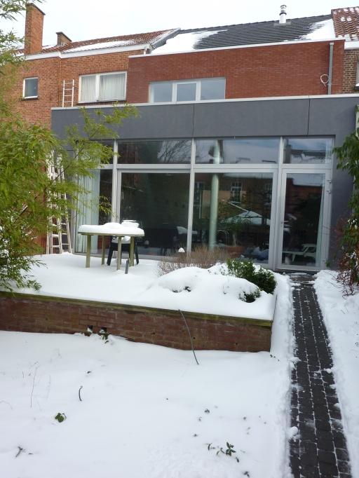 Pool terrras - winter view - Inblauw Bed & Breakfast